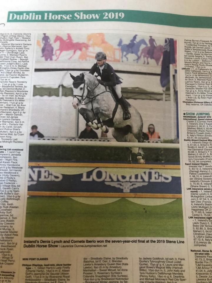 krantenartikel Dublin Horse Show 2019